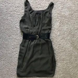 Dark green summer dress